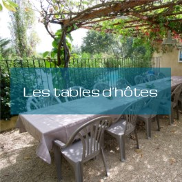 Les tables d'hôtes