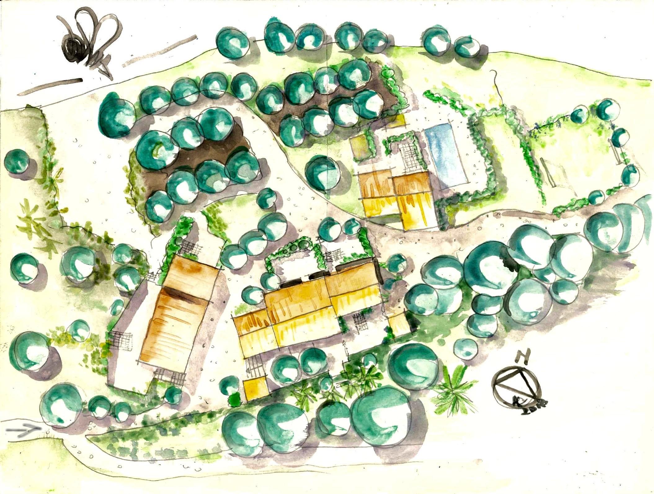 Plan d'implantation du Domaine